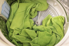 Towels in washing machine Stock Photos