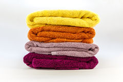 Towels on a white background Royalty Free Stock Photography