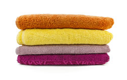 Towels on a white background Stock Photos