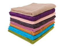 Towels on white Royalty Free Stock Photos