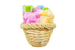Towels in Wicker Basket III Royalty Free Stock Photo