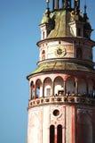 The tower of Český Krumlov castle royalty free stock photos