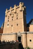 Tower 1. View of the Segovia's Fortress tower, in Spain stock photo
