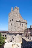 Tower. Of the interior rampart of Carcassonne's citadel Stock Image