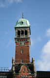 Tower. One of the many towers on the roofs of the buildings in Copenhagen, Denmark stock photo