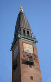 Tower. One of the many towers on the roofs of the buildings in Copenhagen, Denmark royalty free stock images