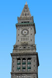 Tower. Top of a tall tower with clock royalty free stock image