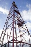 Tower. Cell-communications tower, clouds and sky Royalty Free Stock Photography