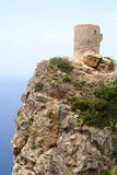 The Tower. The 'Torre del Verges' in the mountains of the spanish island Mallorca Royalty Free Stock Images