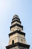 Tower. The pagodas in a garden china Stock Photo