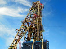 Tower. Drilling rig derrick steel construction Royalty Free Stock Images