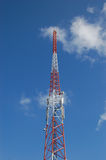 The tower. A radio tower used for communication Stock Images