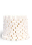 Tower. From pieces of sugar Stock Image