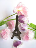 Tower. Metal french tower and flowers Royalty Free Stock Images