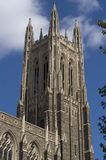 The Tower. An image of Duke University chapel tower stock photos