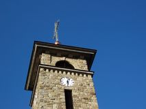 Tower. Excerpts church on the background of blue sky Royalty Free Stock Photos