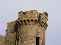 Tower. What is left of one of Thurso castles towers. Intricate stone masonry can be seen. Made from local materials Royalty Free Stock Image