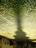 The tower. Shadow of a tower on an old cobbled street Stock Photos