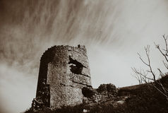 Tower. Old Tower on the Rocky Mountain Stock Photography