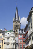 Tower of Aachen Cathedral Stock Photography