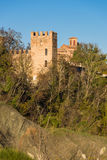 Tower of the Abbazia di Monteveglio Stock Photography