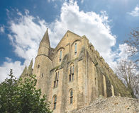 Tower in the abbey of Mont Saint Michel. Normandy, France royalty free stock photo