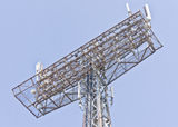 Tower with aerials of cellular Stock Image