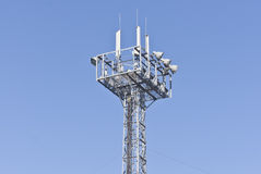 Tower with aerials of cellular Stock Photos