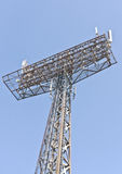 Tower with aerials of cellular Royalty Free Stock Photography