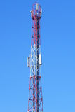 Tower with aerials of cellular Stock Images