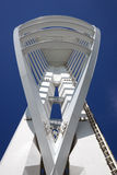 Tower against the blue. Portsmouth's Spinnaker tower against a deep blue sky Stock Photography