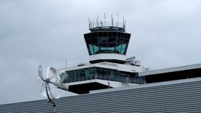 Tower at the airport stock footage