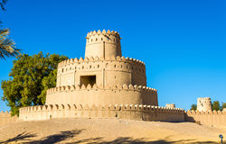 Tower of Al Jahili Fort in Al Ain Stock Images