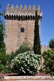 Tower of Alarcon Castle in Spain Stock Photography