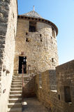 Tower of alertness. Entry of one of the towers of alertness of the Castle of the Cite of Carcassonne royalty free stock image