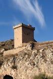 Tower of Alhama de Aragon,. Zaragoza province, Aragon, Spain Royalty Free Stock Photography