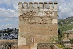 Tower of the Alhambra Complex, Granada, Spain Royalty Free Stock Photography