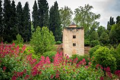 A tower of Alhambra fortification Royalty Free Stock Photos