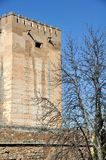 Tower of Alhambra Palace in Granada Royalty Free Stock Photography