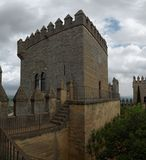 Tower of Almodovar del Rio medieval castle in Spain Royalty Free Stock Photo