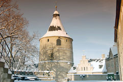 Tower in Altenburg. In the winter with snow Stock Photo
