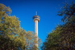 Tower of the Americas in San Antonio. SAN ANTONIO, TEXAS- NOV 19, 2016: Tower of the Americas in San Antonio, Texas on November 19, 2016 stock images
