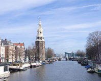 Tower in amsterdam Royalty Free Stock Photography