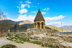Ananuri castle complex on the Aragvi River in Georgia. Tower of Ananuri castle complex on the Aragvi River in Georgia, Europe Royalty Free Stock Image