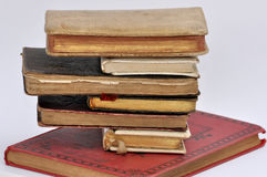 Tower of ancient books. In balance stock photography