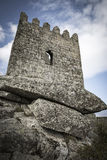 Tower of the ancient castle in Sortelha village. Sabugal Portugal Stock Images