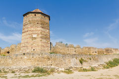 Tower of an ancient fortress. Belgorod-Dniester Royalty Free Stock Images
