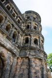 Tower of ancient Porta Nigra Black Gate in Trier. Travel to Germany - tower of ancient roman city gate Porta Nigra Black Gate in Trier town Stock Photography