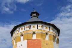 Tower of ancient Russian monastery Stock Photos