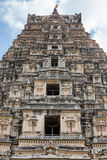 The Tower of the Ancient Temple. The tower located above the entrance to the ancient Hindu temple in the city of Vijayanagar Royalty Free Stock Photo